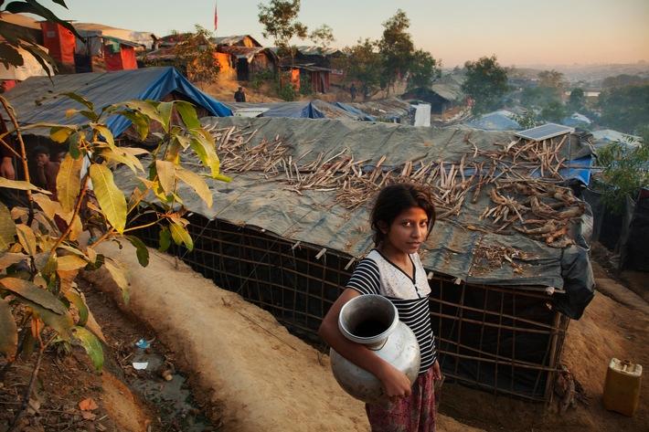 """L'arrivée de la mousson pourrait créer une situation catastrophique dans les camps de réfugiés Rohingyas au sud-est du Bangladesh. Texte complémentaire par ots et sur www.presseportal.ch/fr/nr/100000088 / L'utilisation de cette image est pour des buts redactionnels gratuite. Publication sous indication de source: """"obs/Caritas Schweiz/Caritas Suisse/Caritas Internationalis"""""""