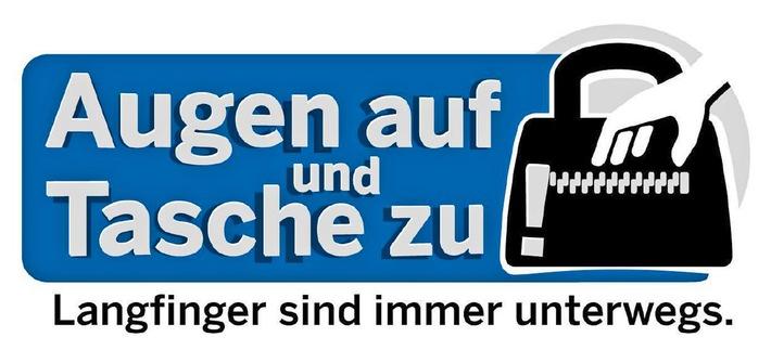Symbolbild: Augen auf und Tasche zu! Bekämpfung des Taschendiebstahls