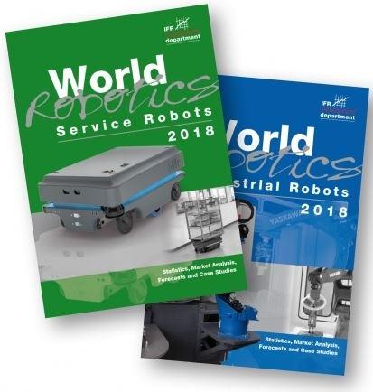"""Welt Robotics Report 2018 - International Federation of Robotics / Weiterer Text über ots und www.presseportal.de/nr/115415 / Die Verwendung dieses Bildes ist für redaktionelle Zwecke honorarfrei. Veröffentlichung bitte unter Quellenangabe: """"obs/The International Federation of Robotics/IFR"""""""