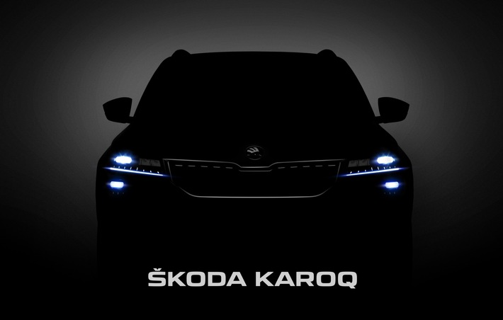 """Weltpremiere des SKODA KAROQ live miterleben: Der SKODA KAROQ ist ein komplett neu entwickeltes kompaktes SUV. Das emotionale und dynamische Design mit den zahlreichen kristallinen Elementen steht ganz im Zeichen der neuen SUV-Formensprache von SKODA. Weiterer Text über ots und www.presseportal.de/nr/28249 / Die Verwendung dieses Bildes ist für redaktionelle Zwecke honorarfrei. Veröffentlichung bitte unter Quellenangabe: """"obs/Skoda Auto Deutschland GmbH"""""""
