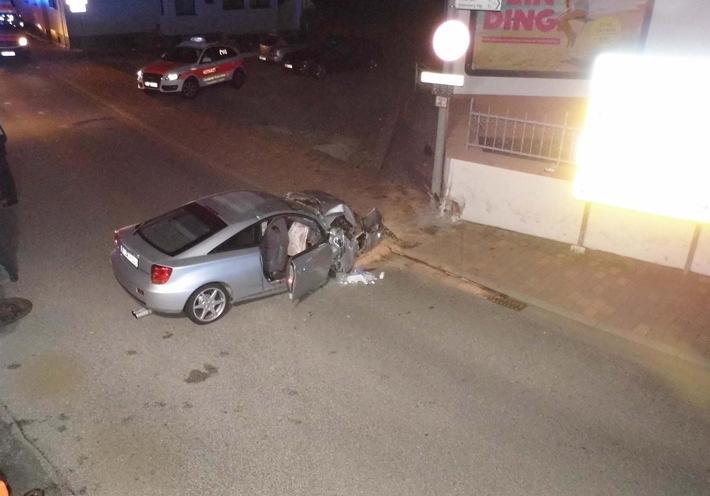 Übersichtsaufnahme Verkehrsunfall
