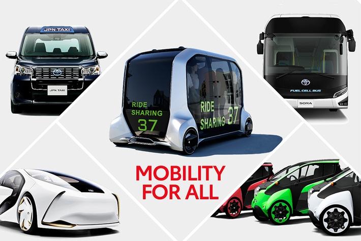"""Toyota Mobility for All. Weiterer Text über ots und www.presseportal.ch/de/nr/100006708 / Die Verwendung dieses Bildes ist für redaktionelle Zwecke honorarfrei. Veröffentlichung bitte unter Quellenangabe: """"obs/Toyota Schweiz AG"""""""