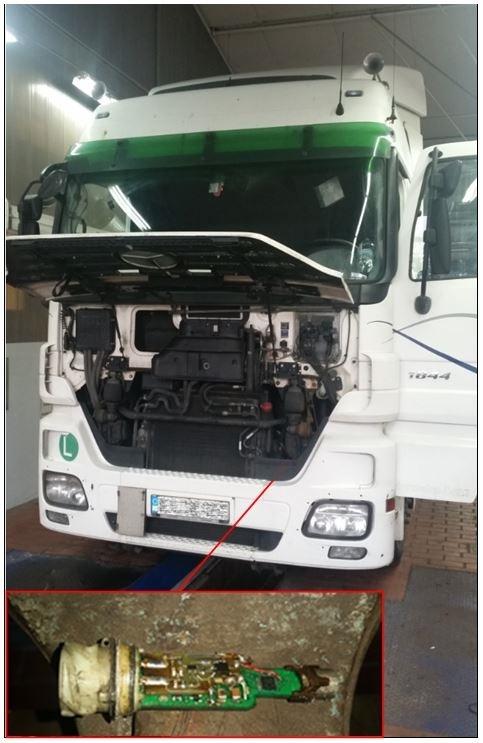 POL-BI: Polizei entlarvt zwei manipulierte Lkw
