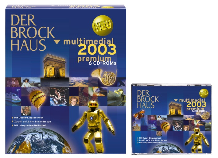 """Nach mehreren Testsiegen auch """"Produkt des Jahres"""" der """"PC-Magazin""""-Leser: der """"Brockhaus multimedial 2003"""""""