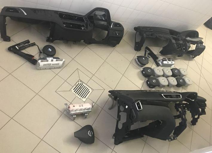 gestohlene Fahrzeugteile