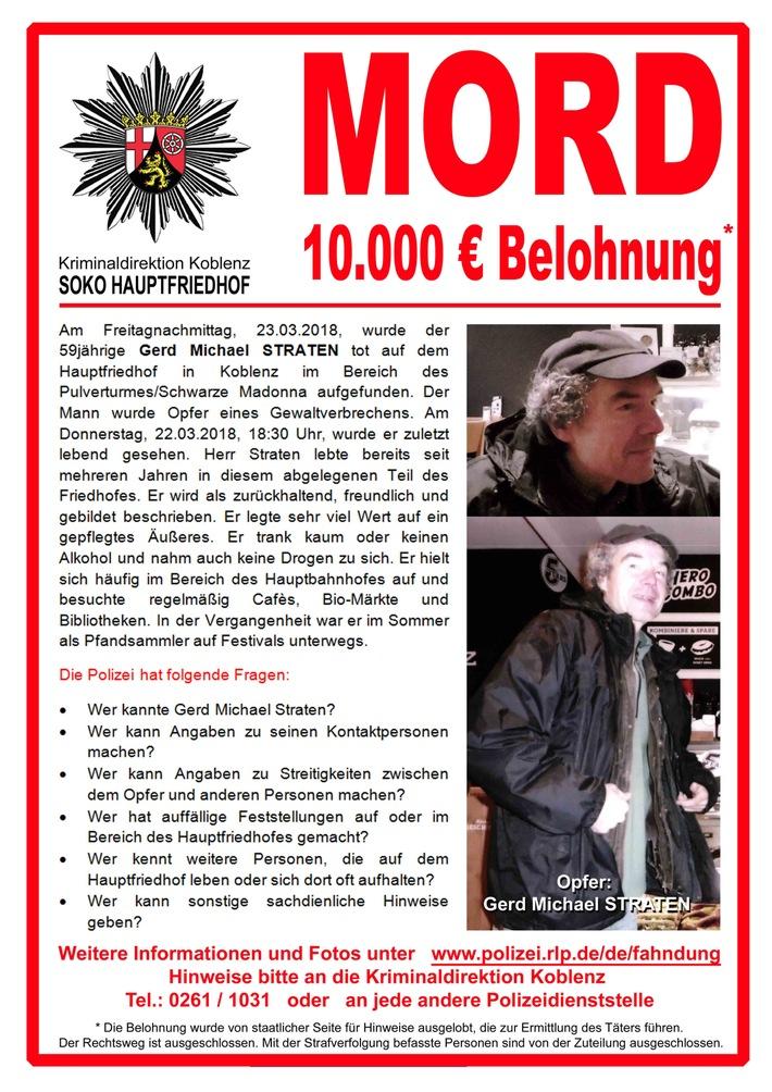 POL-PPKO: Mord in Koblenz-Fahndungsplakat der \