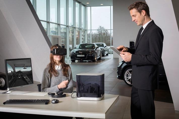 Audi VR experience: das Autohaus im Aktenkoffer