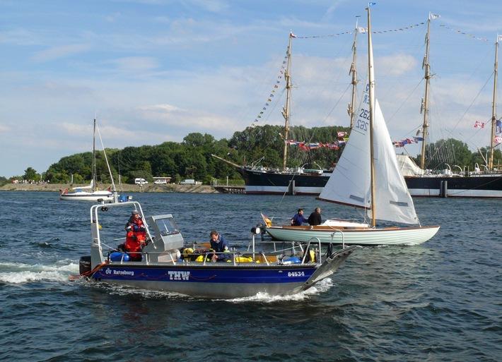Sicherungsboot des THW auf der Travemünder Woche
