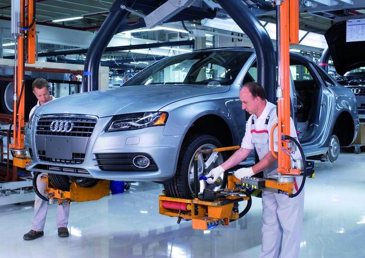 AUDI AG: Produktionsrekord 2007 -  Audi am laufenden Band