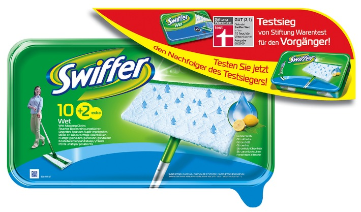 swiffer wet ist testsieger bei stiftung warentest ring frei auch f r den nachfolger des. Black Bedroom Furniture Sets. Home Design Ideas