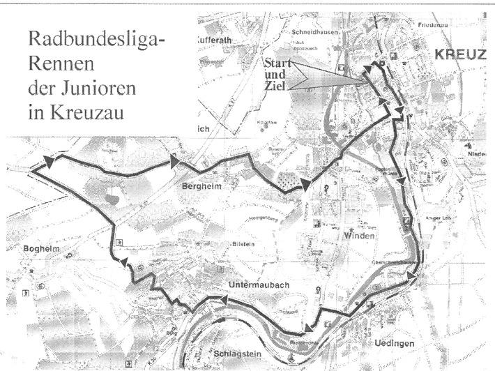 POL-DN: 010821 -1- (Kreuzau) Radrennen in und um Kreuzau (Streckenplan als Anlage)