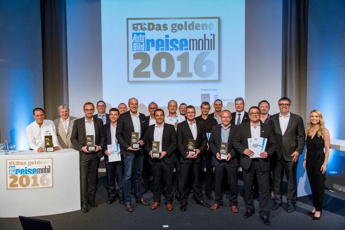 Das sind die Gewinner des GOLDENEN REISEMOBILS 2016
