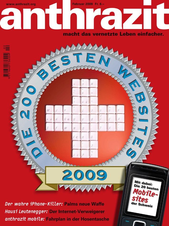 anthrazit-Magazin: Die 200 besten Websites der Schweiz