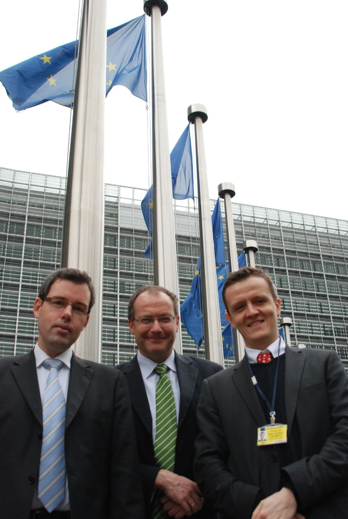 """dpa Insight EU: Th. Strünkelnberg, J. Weidemann and W. v. Dewitz (f.l.t.r.) / Editorial use of this picture is free of charge. Please quote the source: """"obs/German Press Agency dpa"""""""