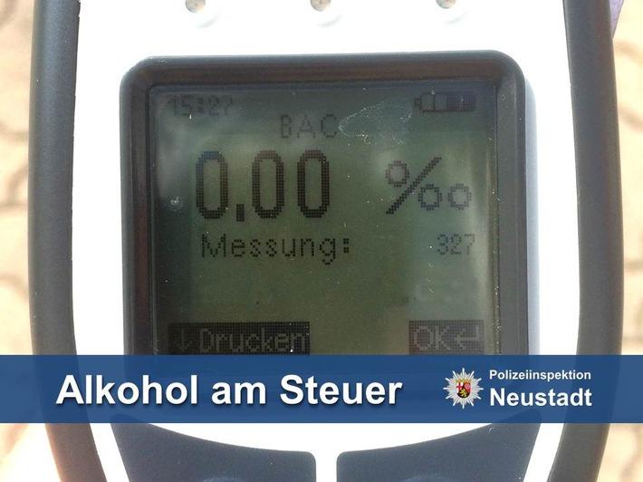 POL-PDNW: Wegen Alkoholgenuss Verkehrskontrolle entzogen