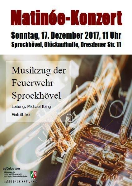 Flyer für das Konzert am 17.12.2017 in der Glückaufhalle - Sprockhövel