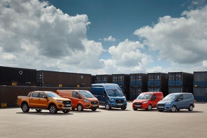 """Das erste Quartal 2019 beschert der Ford-Werke GmbH Rekord-Zulassungsergebnisse bei den Nutzfahrzeugen in Deutschland: Mit über 13.100 neuzugelassenen Einheiten und einem Nutzfahrzeug-Marktanteil von 13,2 Prozent erreicht der Kölner Hersteller die besten Ergebnisse seit 1990 - dem Jahr, als die aktuell gültige Zahlenerfassung auf Grundlage der Daten des Kraftfahrt-Bundesamtes eingeführt wurde. Dabei konnte sich Ford im Vergleich zum ersten Quartal 2018 beim Marktanteil um gut 1,3 Prozent, im Hinblick auf das Volumen sogar um 25,5 Prozent steigern. Weiterer Text über ots und www.presseportal.de/nr/6955 / Die Verwendung dieses Bildes ist für redaktionelle Zwecke honorarfrei. Veröffentlichung bitte unter Quellenangabe: """"obs/Ford-Werke GmbH"""""""