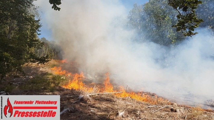 Waldbrand in Plettenberg