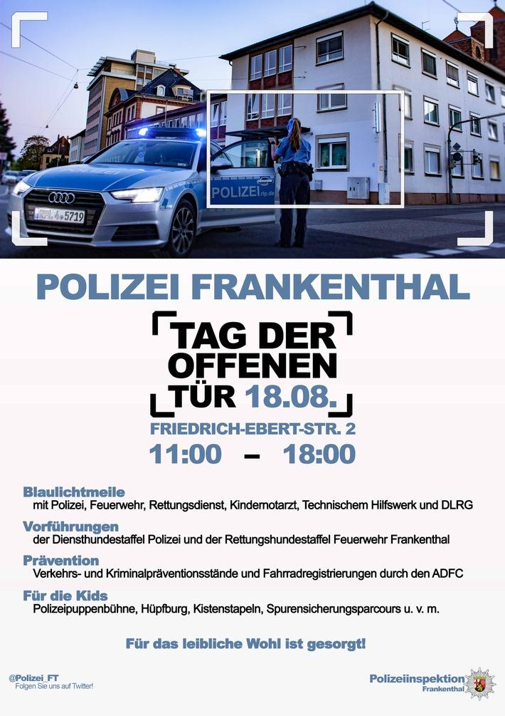 Plakat: Tag der offenen Tür bei der Polizei Frankenthal
