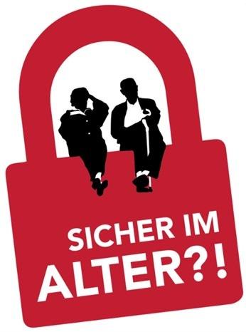 """Logo """"Sicher im Alter?!"""""""