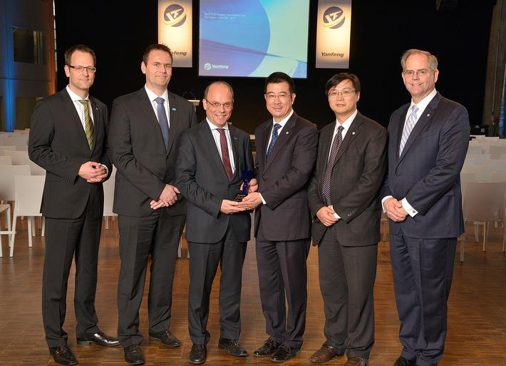 Yanfeng Automotive Interiors zeichnet seine Zulieferer in Europa aus / European Supplier Award geht an 15 Top-Lieferanten
