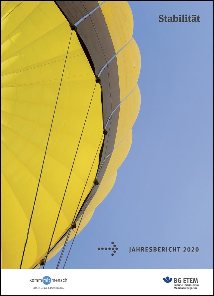 Titelseite des Jahresberichts 2020 der BG ETEM / Weiterer Text über ots und www.presseportal.de/nr/18978 / Die Verwendung dieses Bildes ist für redaktionelle Zwecke unter Beachtung ggf. genannter Nutzungsbedingungen honorarfrei. Veröffentlichung bitte mit Bildrechte-Hinweis.