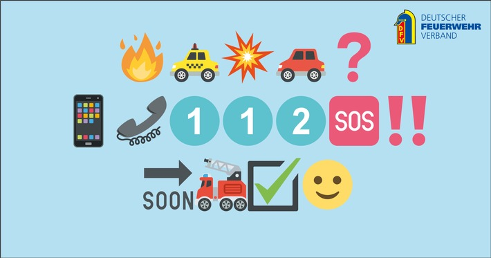 Grafik: Im Notfall Notruf 112 wählen!