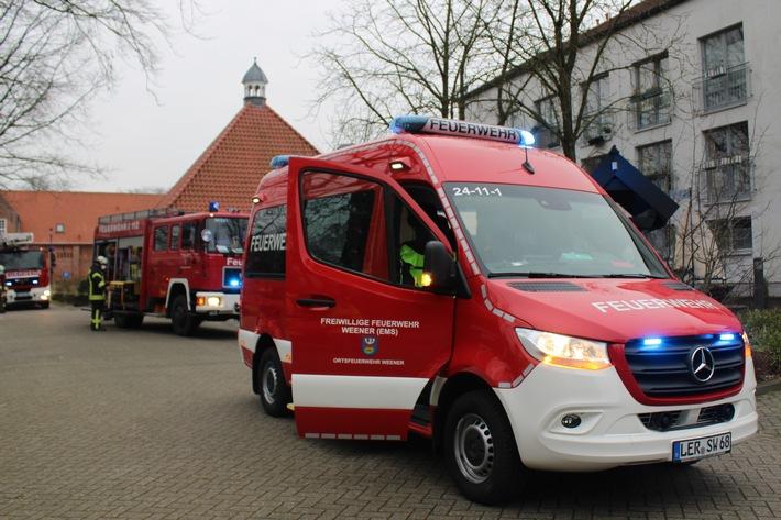FW-LK Leer: Feuer in Wohnheim - Brandmeldeanlage verhindert Schlimmeres
