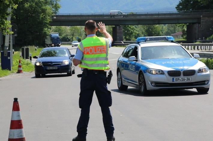 Symbolfoto: Grenzkontrolle der Bundespolizei