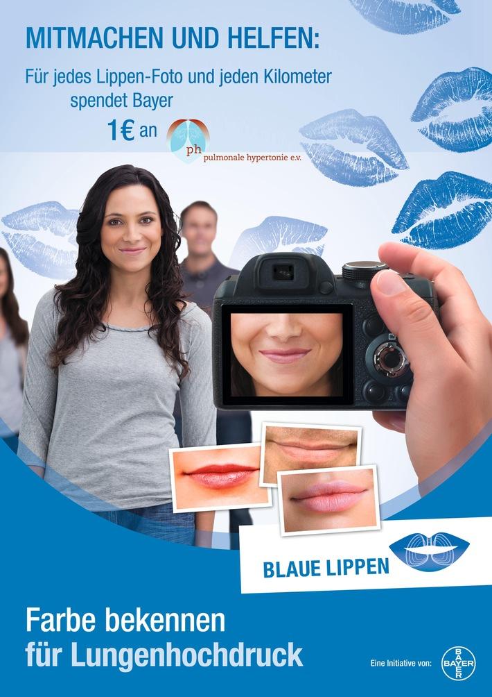 """Welt-PH-Tag am 5. Mai: Atemnot kann Hinweis auf Lungenhochdruck sein / Aktion """"Blaue Lippen"""" macht in PH-Expertenzentren auf  Lungenhochdruck (pulmonale Hypertonie, PH) aufmerksam"""
