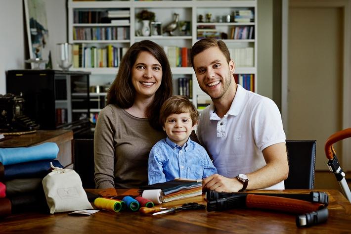 """Familie Holland, Gewinner der Etsy Awards 2016 in der Kategorie """"Kids & Babys"""" Weiterer Text über ots und www.presseportal.de/nr/117350 / Die Verwendung dieses Bildes ist für redaktionelle Zwecke honorarfrei. Veröffentlichung bitte unter Quellenangabe: """"obs/Etsy Germany GmbH/Zoë Noble"""""""