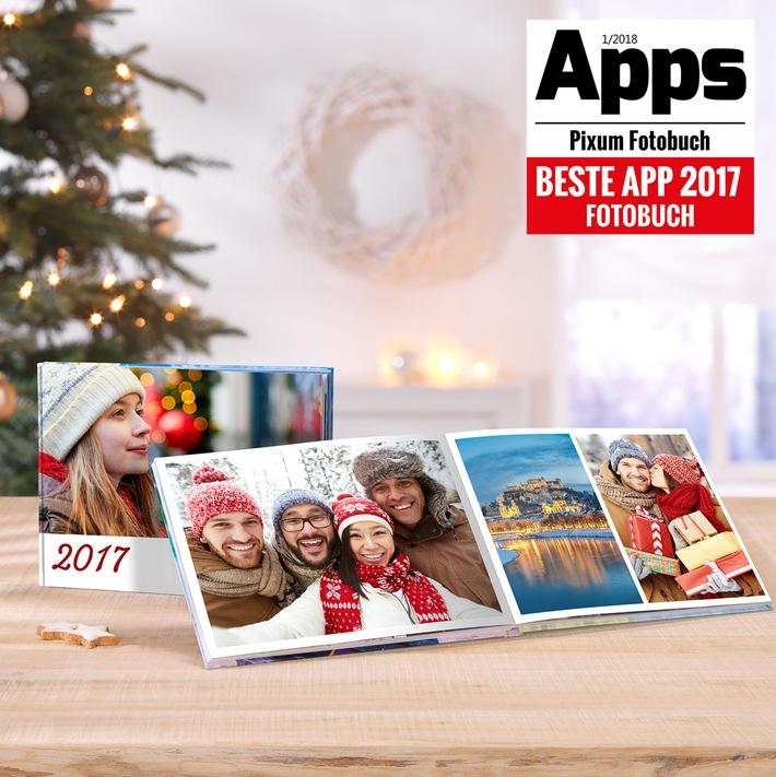 """Pixum Fotobuch App. Weiterer Text über ots und www.presseportal.de/nr/24663 / Die Verwendung dieses Bildes ist für redaktionelle Zwecke honorarfrei. Veröffentlichung bitte unter Quellenangabe: """"obs/Pixum"""""""