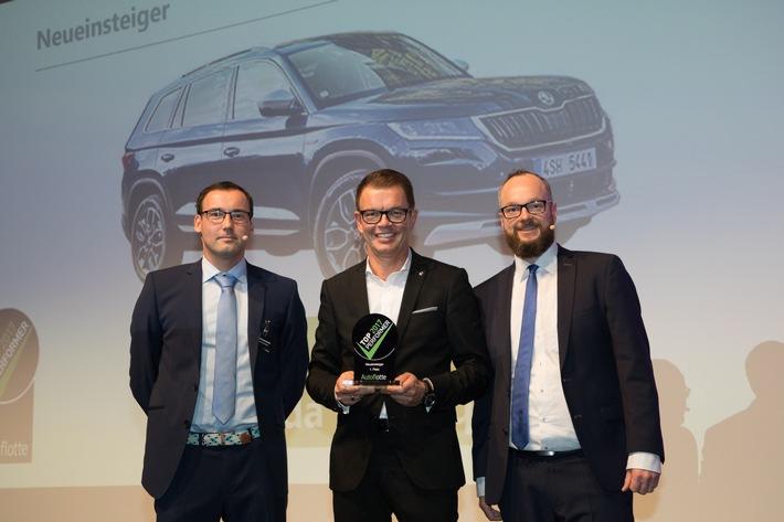 'Autoflotte' zeichnet SKODA und die Modelle SUPERB und KODIAQ als 'TopPerformer 2017' aus