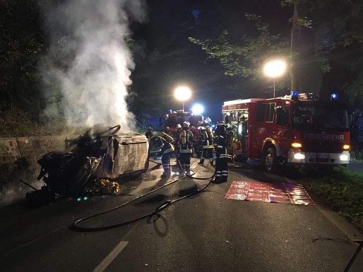 Unfallstelle Bundesstraße 83 / Foto: Feuerwehr Emmerthal-Grohnde