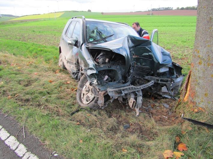 POL-HM: Schwerer Verkehrsunfall auf der L588