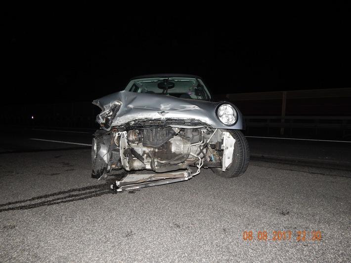 POL-VDKO: Verkehrsunfall unter Alkoholeinwirkung