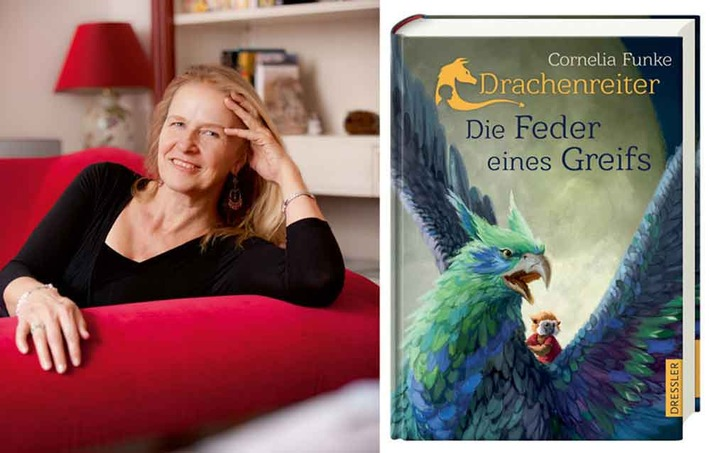 """Bestsellerautorin Cornelia Funke live: Drachenreiter-Lesetour zu """"Die Feder eines Greifs"""" startet am 6. November in Berlin"""