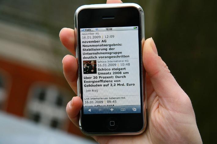 news aktuell lance une nouvelle version mobile de son Presseportal