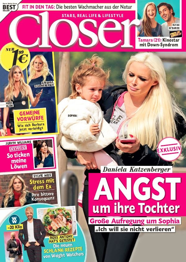 """Daniela Katzenberger (31) exklusiv in Closer: """"Ich habe oft Angst um meine Tochter"""""""
