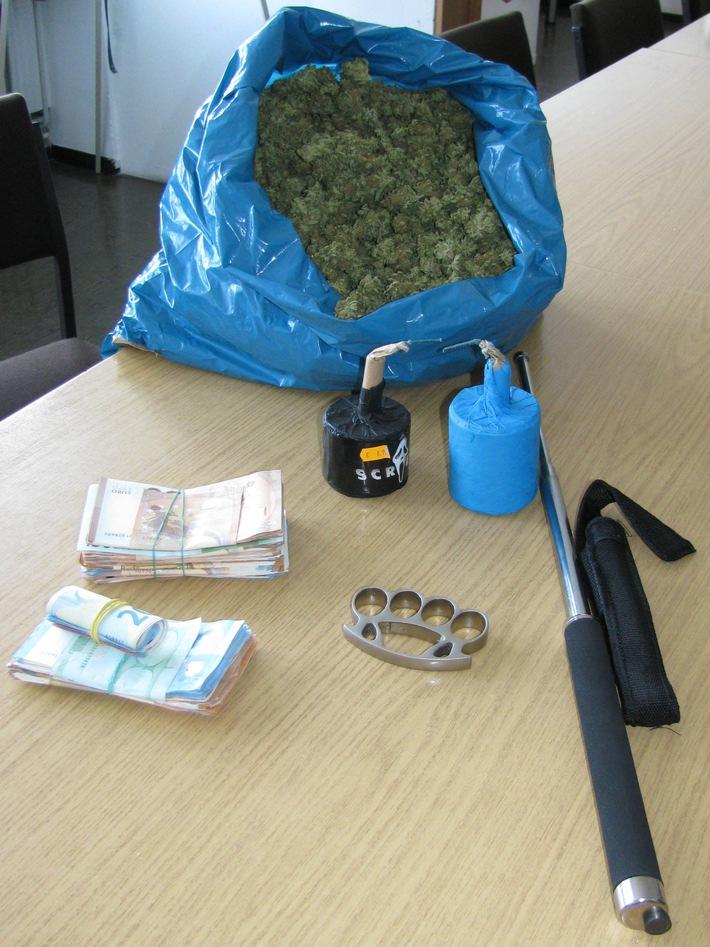 Sichergestelltes Marihuana, Bargeld pp