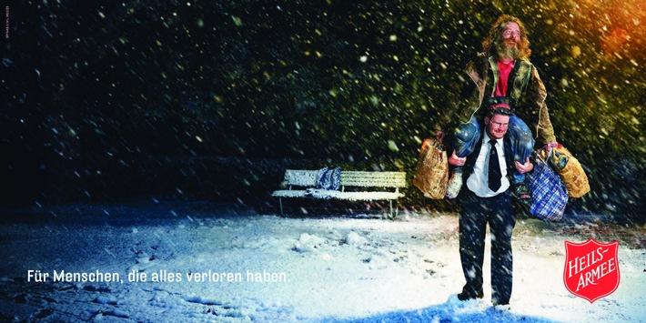 """Heilsarmee-Weihnachtskampagne 2017. Weiterer Text über ots und www.presseportal.ch/de/nr/100007346 / Die Verwendung dieses Bildes ist für redaktionelle Zwecke honorarfrei. Veröffentlichung bitte unter Quellenangabe: """"obs/Heilsarmee / Armée du Salut"""""""