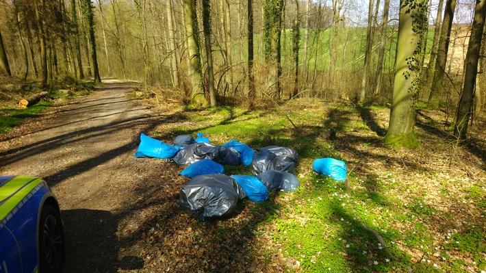 POL-MA: Sinsheim/Rhein-Neckar-Kreis: Müllsäcke im Wald entsorgt - Täter ermittelt!