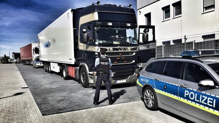 18 Tonnen Speiseeis hatte dieser Laster aus Russland geladen. Da der Fahrer keine gültige Fahrerlaubnis hatte ging die Fahrt erstmal nicht weiter.