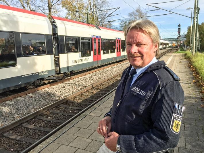 """BPOLI-KN: Gemeinsame Sicherheits-Initiative der Konstanzer Bundespolizei und der SBB GmbH auf der """"Seehas""""-Strecke"""