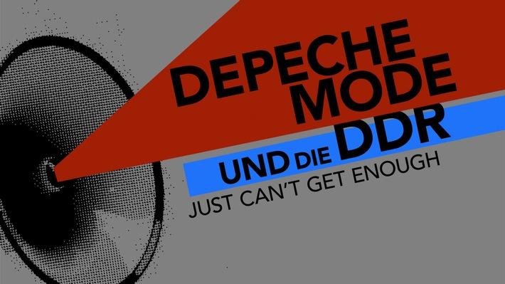 """""""Depeche Mode und die DDR - Just can´t get enough"""". Sendedatum: 10. März, 22.45 Uhr im MDR-Fernsehen. Logo Titel zur Sendung. Weiterer Text über ots und www.presseportal.de/nr/7880 / Die Verwendung dieses Bildes ist für redaktionelle Zwecke honorarfrei. Veröffentlichung bitte unter Quellenangabe: """"obs/MDR Mitteldeutscher Rundfunk"""""""