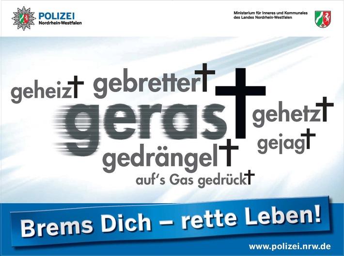 """POL-DN: Brems Dich - rette Leben!"""""""