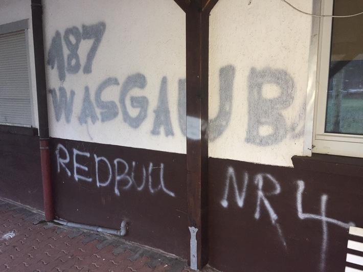 Vereinsheim erneut mit Graffiti beschmiert