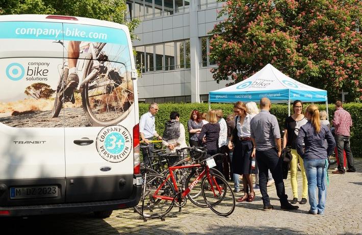 Auftaktveranstaltung eines Firmenrad-Programms von company bike solutions: Sich beraten lassen, verschiedenste Räder testen und anschließend bequem über die kundenindividuelle Online-Plattform bestellen