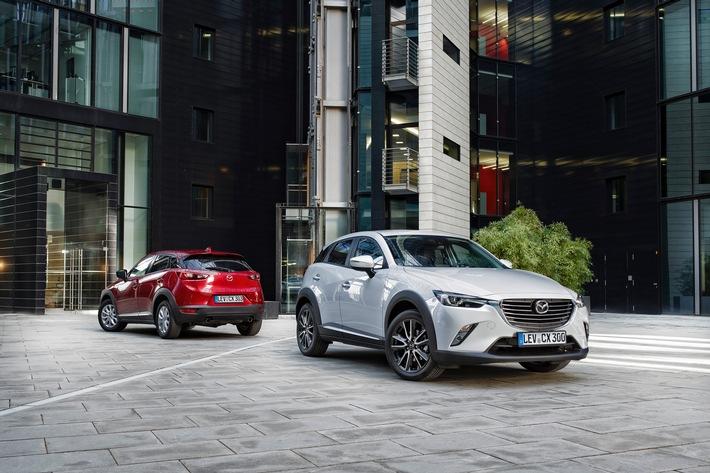 """Der neue Mazda CX-3. Weiterer Text über ots und www.presseportal.de/pm/33972 / Die Verwendung dieses Bildes ist für redaktionelle Zwecke honorarfrei. Veröffentlichung bitte unter Quellenangabe: """"obs/Mazda/Mazda Motors Deutschland"""""""