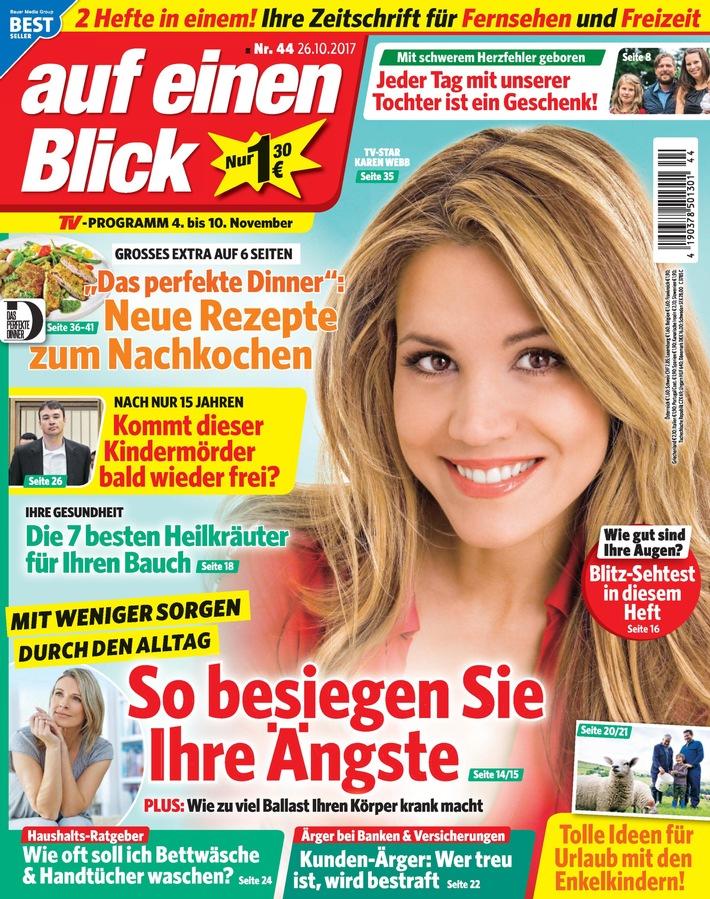 """Cover auf einen blick. Weiterer Text über ots und www.presseportal.de/nr/43108 / Die Verwendung dieses Bildes ist für redaktionelle Zwecke honorarfrei. Veröffentlichung bitte unter Quellenangabe: """"obs/Bauer Media Group, auf einen Blick/auf einen blick"""""""